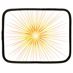 Fireworks Light Yellow Space Happy New Year Red Netbook Case (large) by AnjaniArt