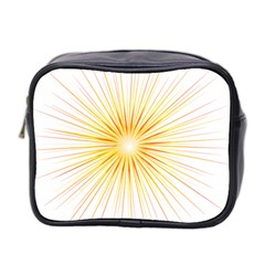 Fireworks Light Yellow Space Happy New Year Red Mini Toiletries Bag 2 Side by AnjaniArt
