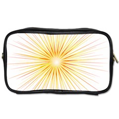 Fireworks Light Yellow Space Happy New Year Red Toiletries Bags 2 Side by AnjaniArt