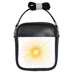 Fireworks Light Yellow Space Happy New Year Red Girls Sling Bags by AnjaniArt
