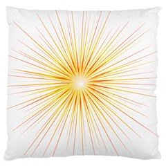 Fireworks Light Yellow Space Happy New Year Red Large Cushion Case (two Sides) by AnjaniArt