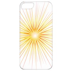 Fireworks Light Yellow Space Happy New Year Red Apple Iphone 5 Classic Hardshell Case by AnjaniArt