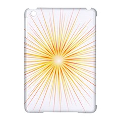 Fireworks Light Yellow Space Happy New Year Red Apple Ipad Mini Hardshell Case (compatible With Smart Cover) by AnjaniArt