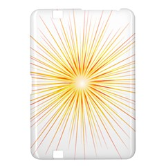 Fireworks Light Yellow Space Happy New Year Red Kindle Fire Hd 8 9  by AnjaniArt