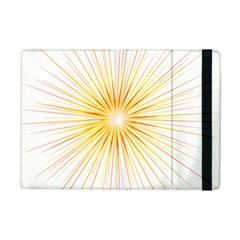 Fireworks Light Yellow Space Happy New Year Red Ipad Mini 2 Flip Cases by AnjaniArt
