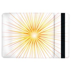 Fireworks Light Yellow Space Happy New Year Red Ipad Air 2 Flip by AnjaniArt