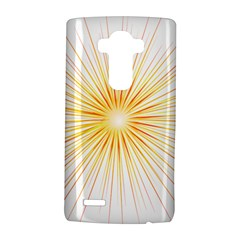 Fireworks Light Yellow Space Happy New Year Red Lg G4 Hardshell Case by AnjaniArt