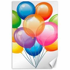 Birthday Happy New Year Balloons Rainbow Canvas 20  X 30   by AnjaniArt