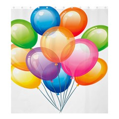 Birthday Happy New Year Balloons Rainbow Shower Curtain 66  X 72  (large)  by AnjaniArt