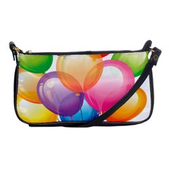 Birthday Happy New Year Balloons Rainbow Shoulder Clutch Bags by AnjaniArt