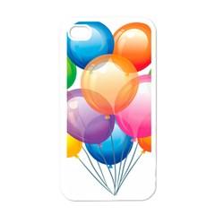 Birthday Happy New Year Balloons Rainbow Apple Iphone 4 Case (white)