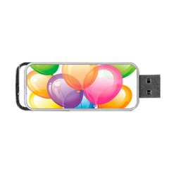 Birthday Happy New Year Balloons Rainbow Portable Usb Flash (two Sides) by AnjaniArt