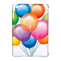 Birthday Happy New Year Balloons Rainbow Apple Ipad Mini Hardshell Case (compatible With Smart Cover) by AnjaniArt