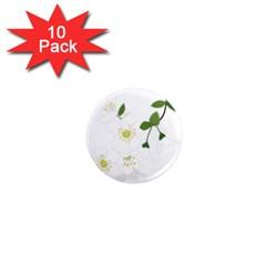 Flower Floral Sakura 1  Mini Magnet (10 Pack)  by AnjaniArt