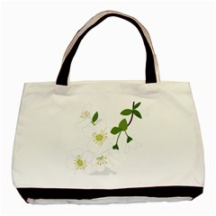 Flower Floral Sakura Basic Tote Bag by AnjaniArt