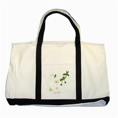 Flower Floral Sakura Two Tone Tote Bag by AnjaniArt