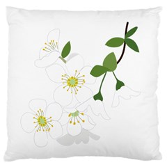 Flower Floral Sakura Large Cushion Case (two Sides) by AnjaniArt