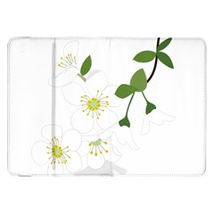 Flower Floral Sakura Samsung Galaxy Tab 8 9  P7300 Flip Case by AnjaniArt