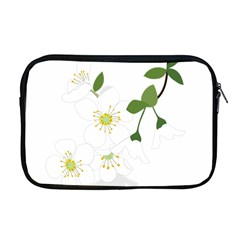 Flower Floral Sakura Apple Macbook Pro 17  Zipper Case by AnjaniArt