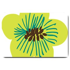 Flower Floral Green Large Doormat  by AnjaniArt