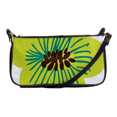 Flower Floral Green Shoulder Clutch Bags by AnjaniArt