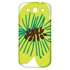 Flower Floral Green Samsung Galaxy S3 S Iii Classic Hardshell Back Case by AnjaniArt