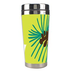 Flower Floral Green Stainless Steel Travel Tumblers by AnjaniArt