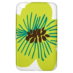 Flower Floral Green Samsung Galaxy Tab 3 (8 ) T3100 Hardshell Case  by AnjaniArt