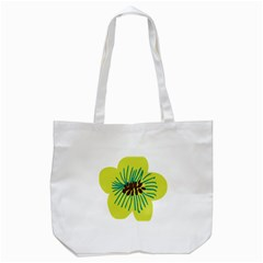 Flower Floral Green Tote Bag (white) by AnjaniArt