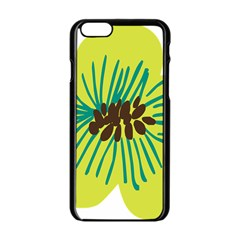 Flower Floral Green Apple Iphone 6/6s Black Enamel Case by AnjaniArt