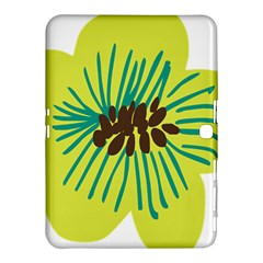 Flower Floral Green Samsung Galaxy Tab 4 (10 1 ) Hardshell Case  by AnjaniArt