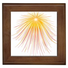 Fireworks Yellow Light Framed Tiles by AnjaniArt