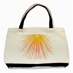 Fireworks Yellow Light Basic Tote Bag by AnjaniArt