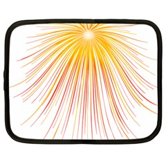 Fireworks Yellow Light Netbook Case (large) by AnjaniArt