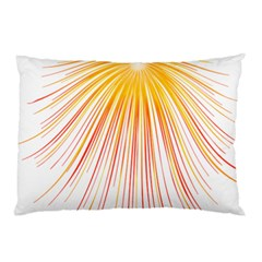 Fireworks Yellow Light Pillow Case (two Sides) by AnjaniArt
