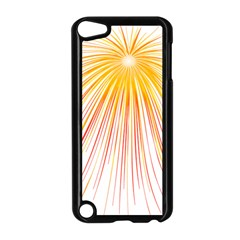 Fireworks Yellow Light Apple Ipod Touch 5 Case (black) by AnjaniArt