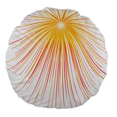 Fireworks Yellow Light Large 18  Premium Round Cushions by AnjaniArt