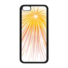 Fireworks Yellow Light Apple Iphone 5c Seamless Case (black) by AnjaniArt