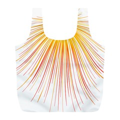 Fireworks Yellow Light Full Print Recycle Bags (l)  by AnjaniArt