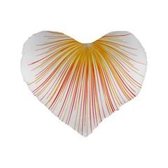 Fireworks Yellow Light Standard 16  Premium Flano Heart Shape Cushions by AnjaniArt