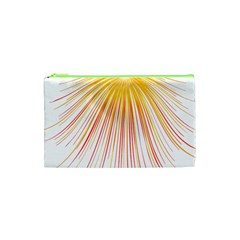 Fireworks Yellow Light Cosmetic Bag (xs) by AnjaniArt