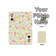 Flower Rainbow Sexy Leaf Plaid Vertical Horizon Playing Cards 54 (mini)  by AnjaniArt
