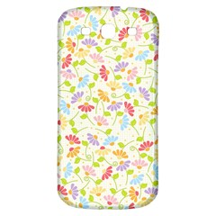 Flower Rainbow Sexy Leaf Plaid Vertical Horizon Samsung Galaxy S3 S Iii Classic Hardshell Back Case by AnjaniArt