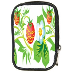 Fruit Flower Leaf Red White Green Starflower Compact Camera Cases by AnjaniArt