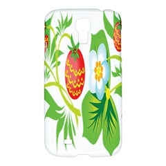 Fruit Flower Leaf Red White Green Starflower Samsung Galaxy S4 I9500/i9505 Hardshell Case by AnjaniArt