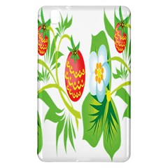 Fruit Flower Leaf Red White Green Starflower Samsung Galaxy Tab Pro 8 4 Hardshell Case by AnjaniArt