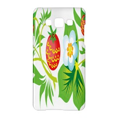 Fruit Flower Leaf Red White Green Starflower Samsung Galaxy A5 Hardshell Case  by AnjaniArt