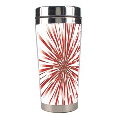 Happy New Year City Semmes Fireworks Rainbow Red Blue Yellow Purple Sky Stainless Steel Travel Tumblers by AnjaniArt