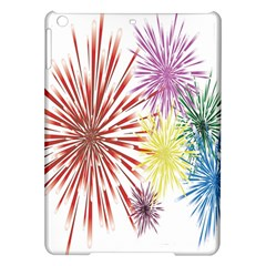 Happy New Year City Semmes Fireworks Rainbow Red Blue Yellow Purple Sky Ipad Air Hardshell Cases by AnjaniArt