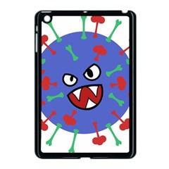 Monster Virus Blue Cart Big Eye Red Green Apple Ipad Mini Case (black) by AnjaniArt